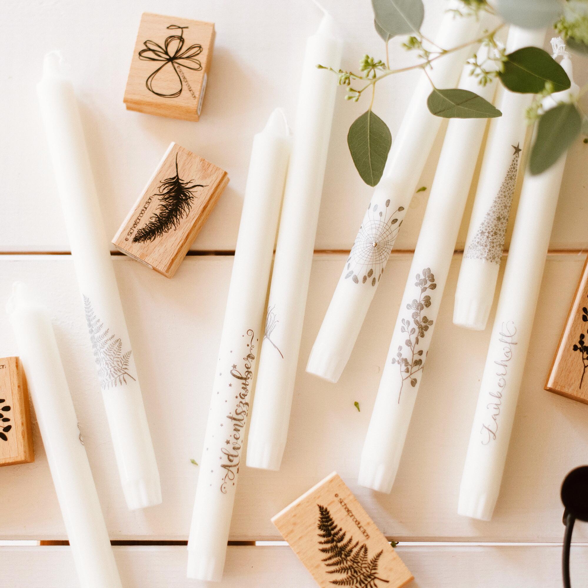 DIY Anleitung - Kerzen bestempeln