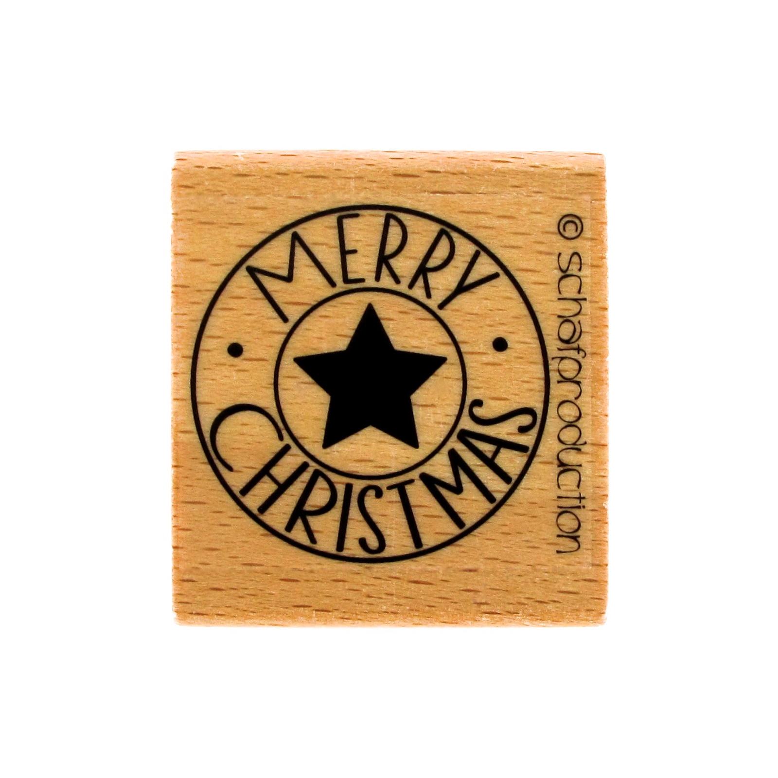 Motivstempel Merry Christmas für die Weihnachtszeit