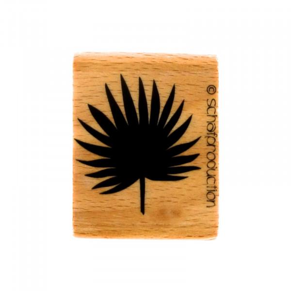 Motivstempel - Palmenblatt ründlich