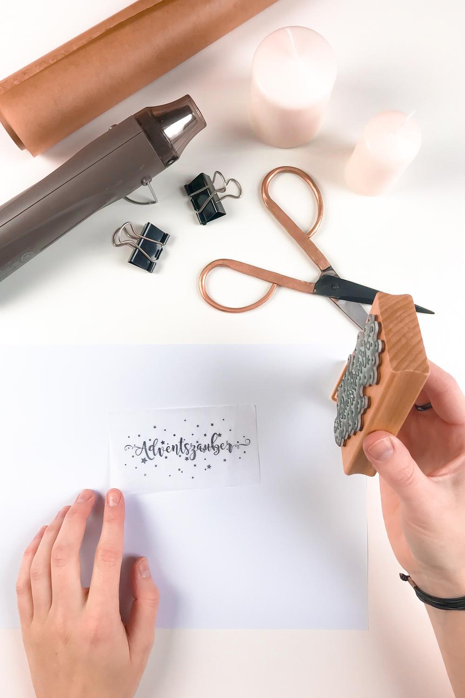 Seidenpapier bestempeln