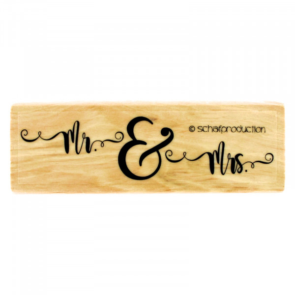 Motivstempel - Mr. & Mrs.