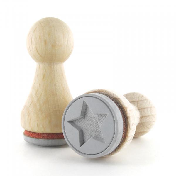 Ministempel - Stern im Kreis