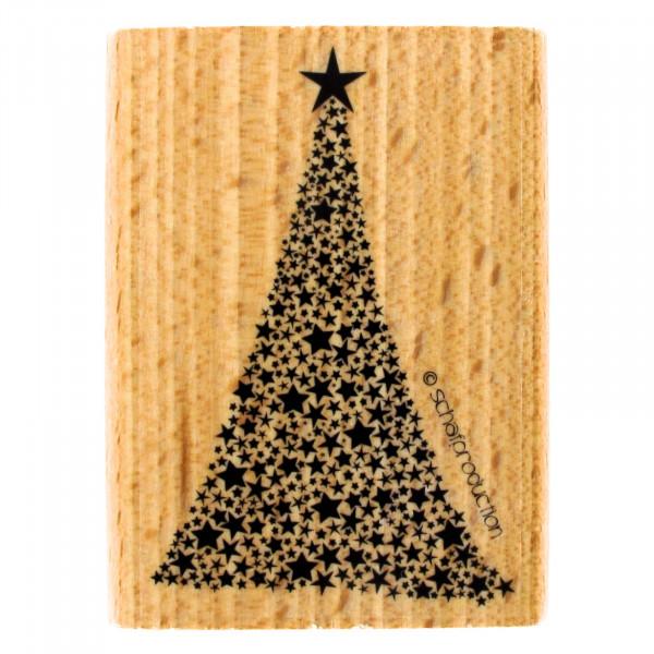 Motivstempel - Weihnachtsbaum aus Sternen